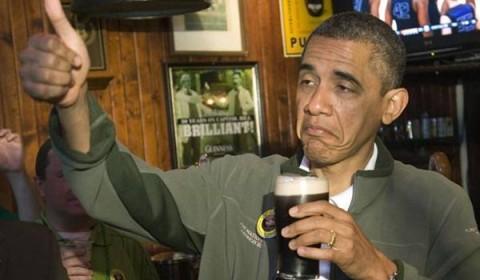 Obama et sa bière