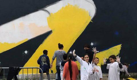 Des élèves de l'école Deyries ont participé à la fresque Metro Paradise