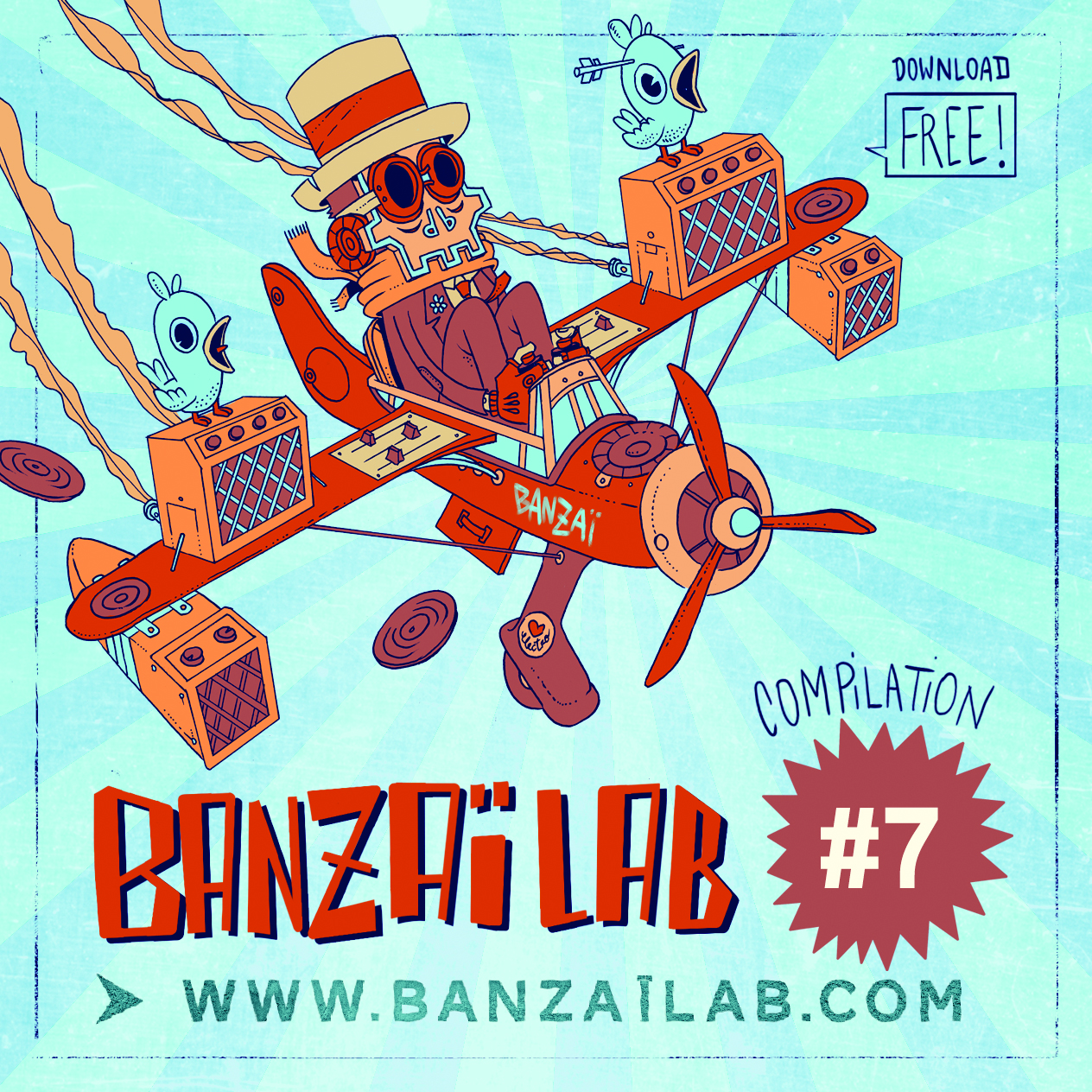 cover compil banzaï lab #7