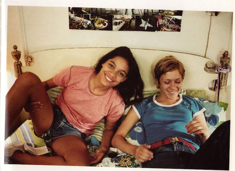 """Rosario Dawson et Chloë Sevigny sur le tournage de """"Kids"""""""