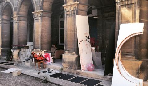 Coulisses cour intérieure Transfert 2015 - ©Apolline Clapson